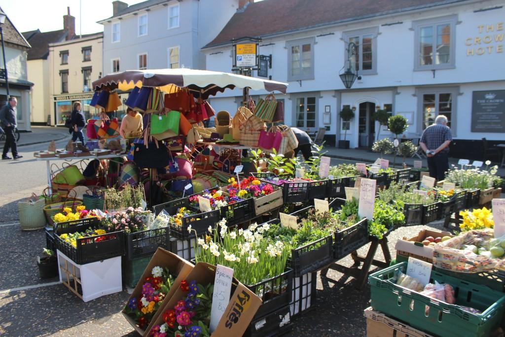 Market Day in Framlingham...Spring is here!