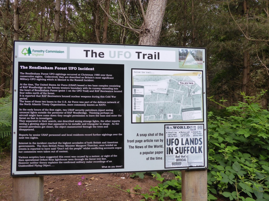 Rendlesham Forest UFO trail