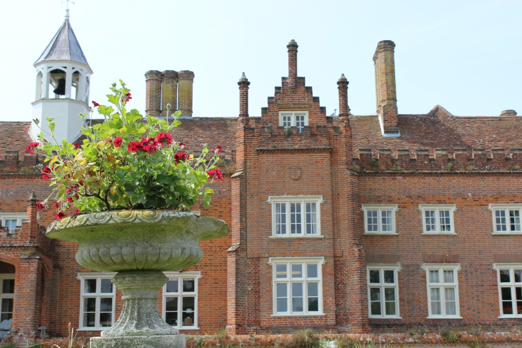 A view of Helmingham Hall from one of the gardens