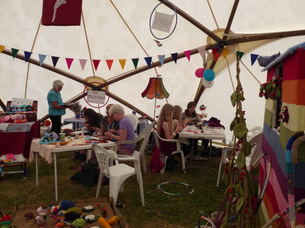 Workshops in the Social Knitworks tent
