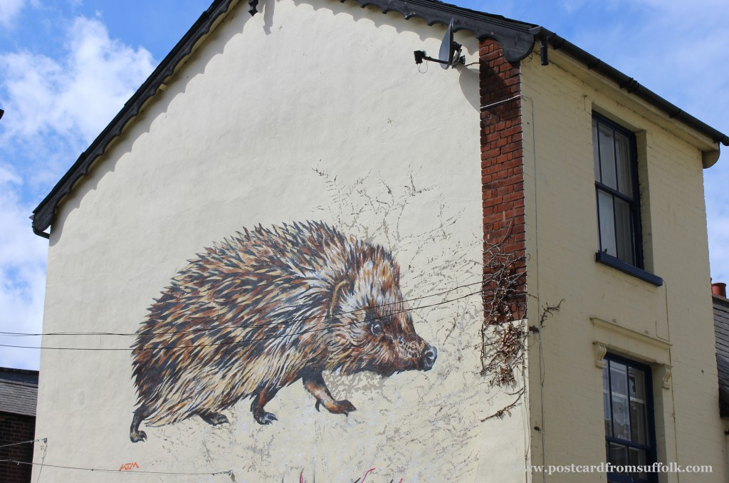 hedgehog street art