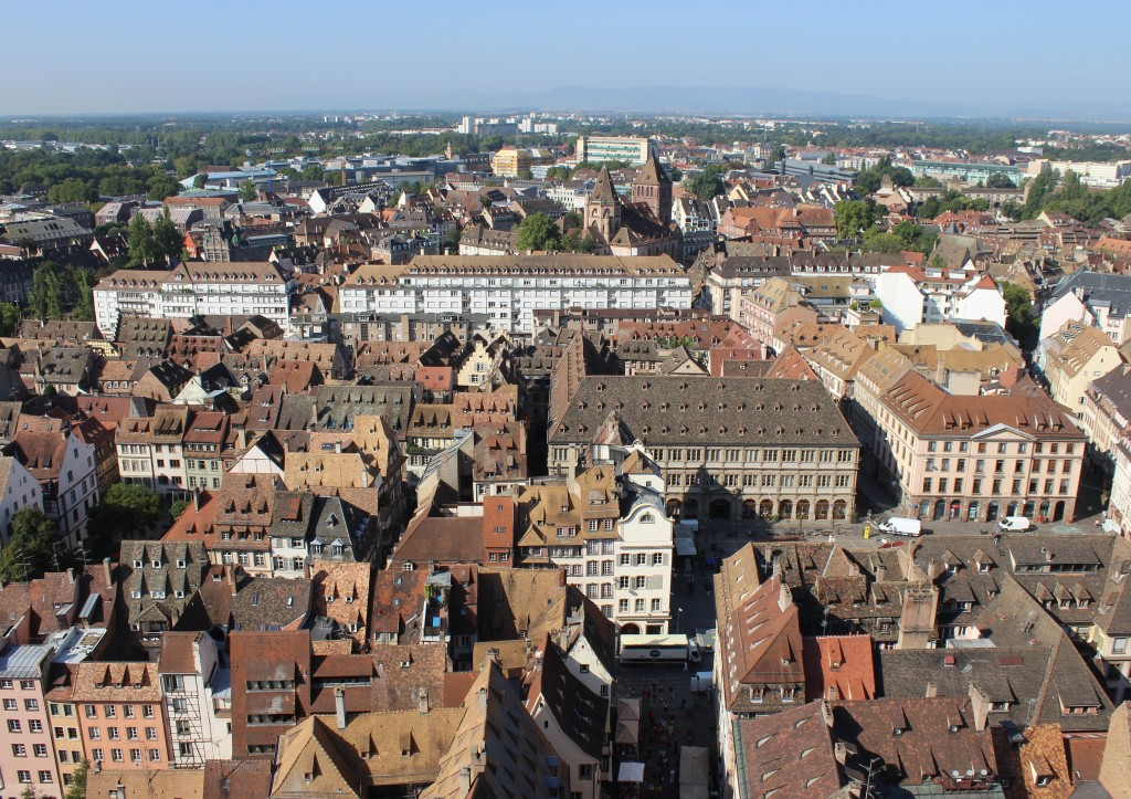 view from strasbourg cathedral notre dame