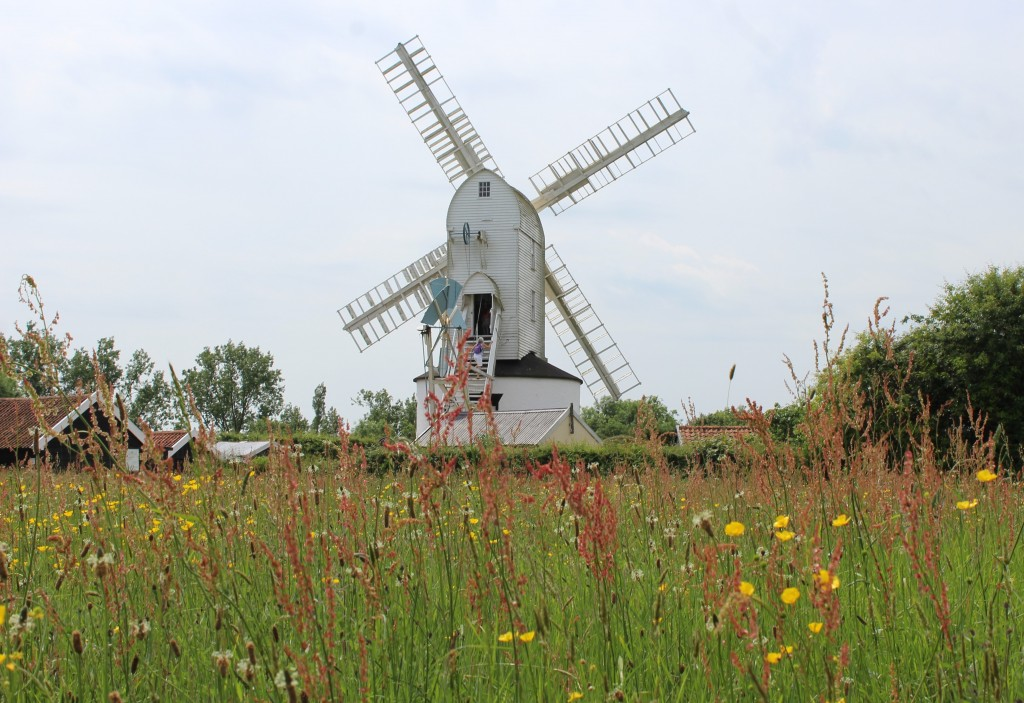 Saxtead green post mill
