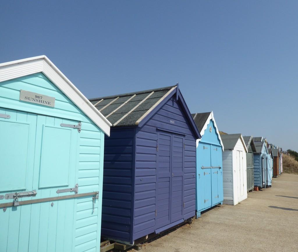 Old Felixstowe beach huts